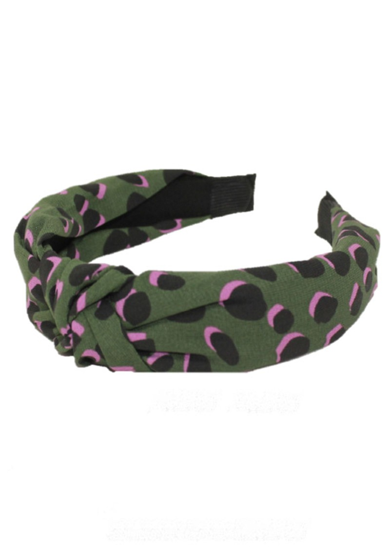 UNIVERSE OF US Slim Leopard Headband - Forest Green  main image