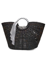 Becksondergaard Cyra Straw Bag - Black