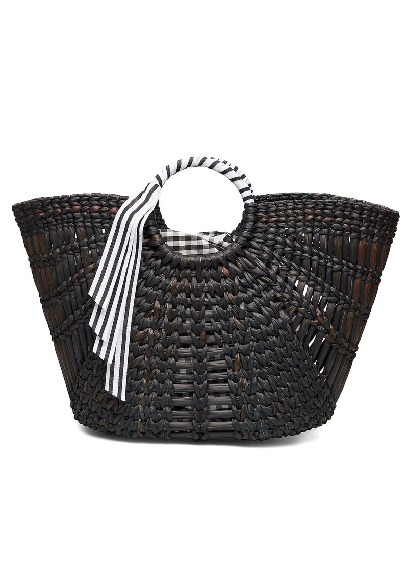 Becksondergaard Cyra Straw Bag - Black main image