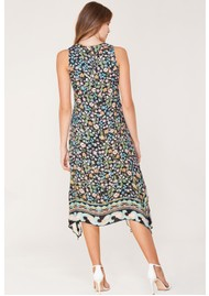 Hale Bob Titania Midi Printed Dress - Black