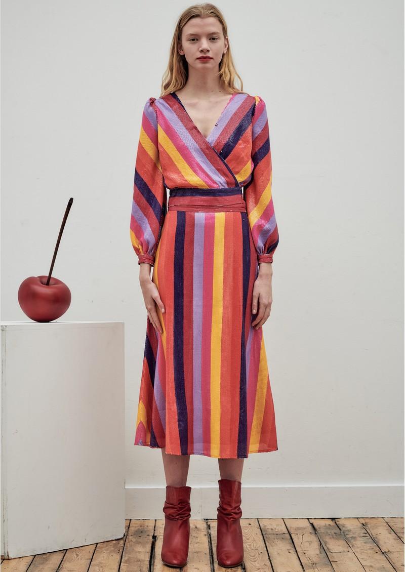 OLIVIA RUBIN Penelope Sequin Skirt - Rainbow main image