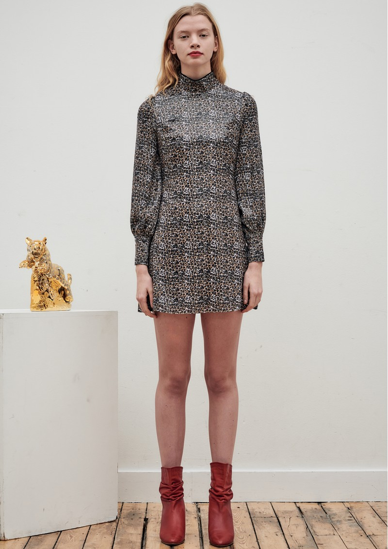 OLIVIA RUBIN Melissa Sequin Dress - Leopard main image