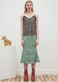 OLIVIA RUBIN Hanna Silk Slip Skirt - Mint Zebra