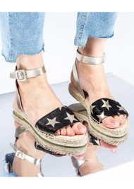 AIR & GRACE Altea Espadrille Sandal - Star Print