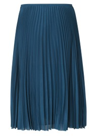 SAMSOE & SAMSOE Juliette Pleated Midi Skirt - Blue Opal