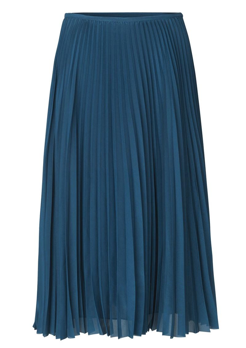 SAMSOE & SAMSOE Juliette Pleated Midi Skirt - Blue Opal main image