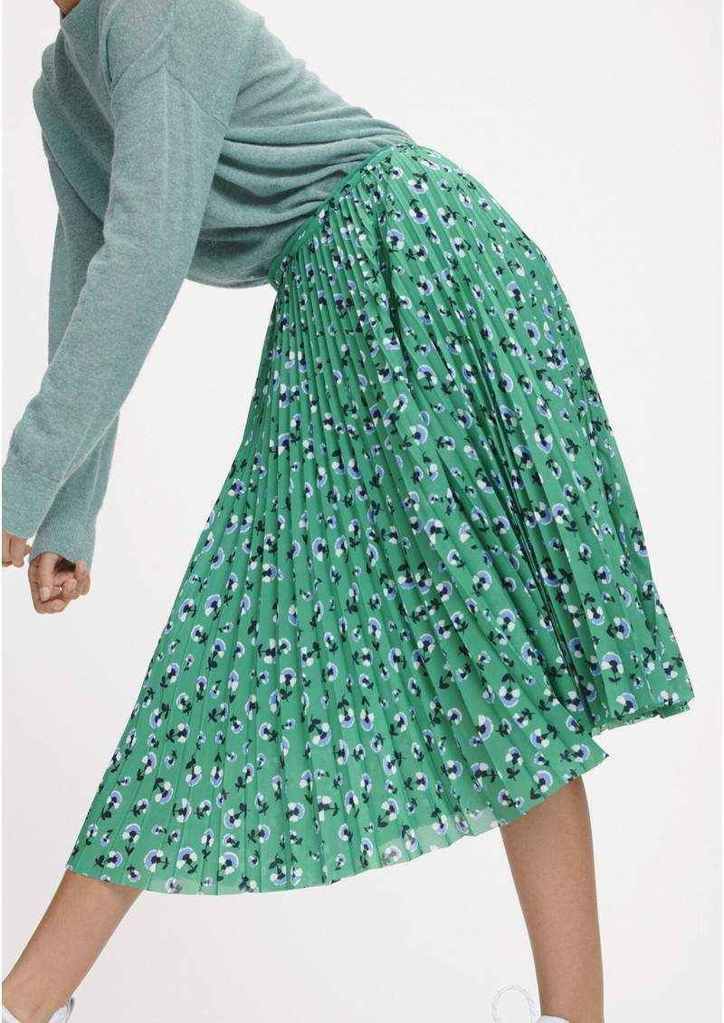 SAMSOE & SAMSOE Juliette Pleated Midi Skirt - Green Carnation main image