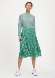 SAMSOE & SAMSOE Juliette Pleated Midi Skirt - Green Carnation