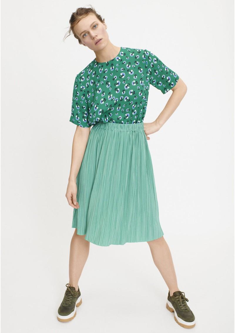 SAMSOE & SAMSOE Amabel Printed Short Sleeve Top - Green Carnation main image