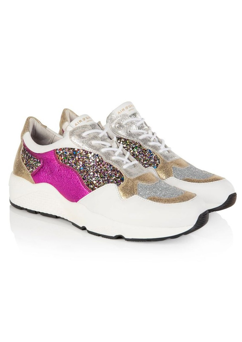 AIR & GRACE Cosmic Trainers - Gold Glitter main image