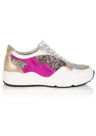 AIR & GRACE Cosmic Trainers - Gold Glitter
