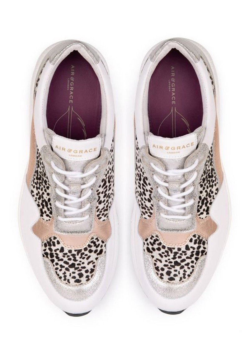 AIR & GRACE Cosmic Trainers - Rose Gold & Dotty Print main image