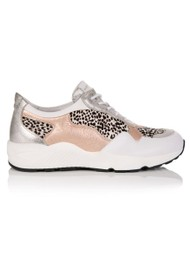 AIR & GRACE Cosmic Trainers - Rose Gold & Dotty Print