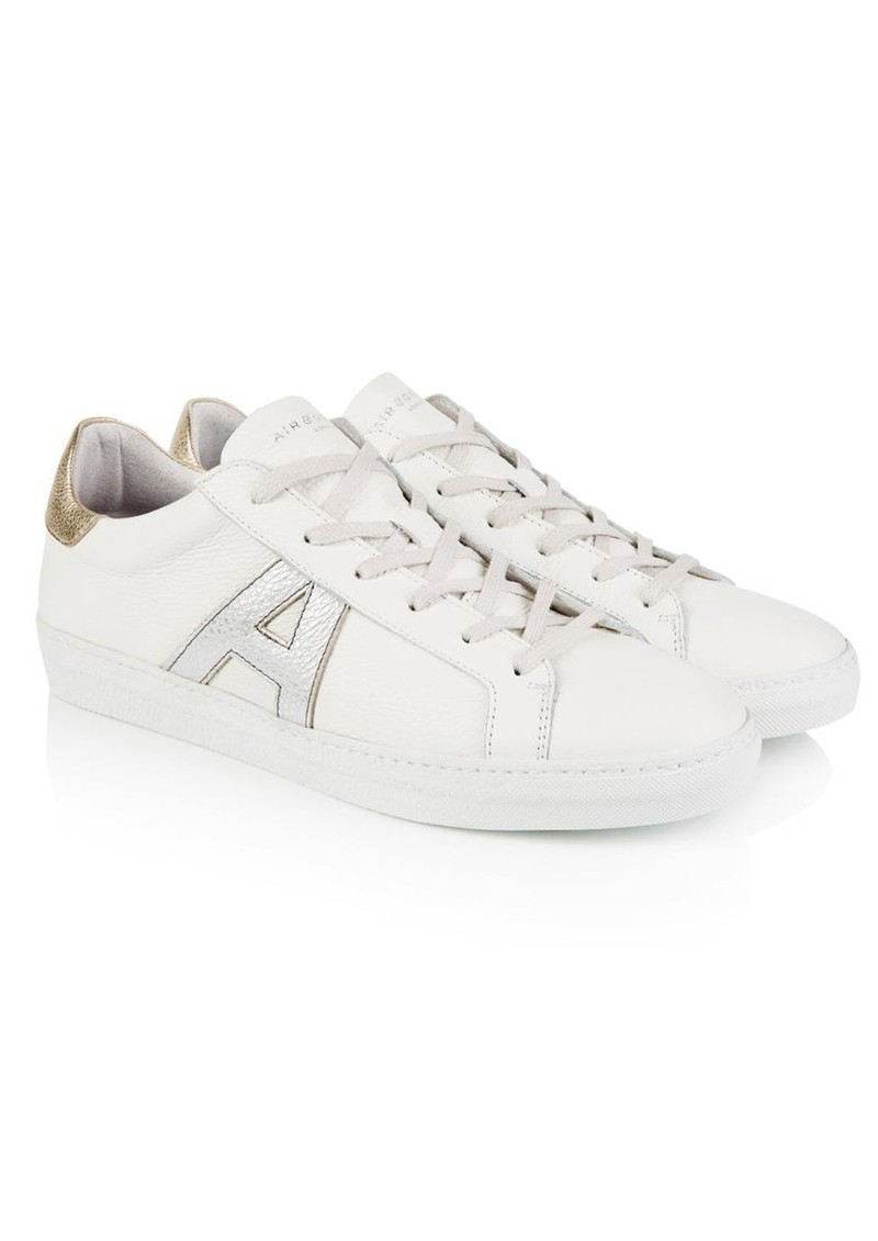 AIR & GRACE Signature Cru Trainers - White, Silver & Gold main image