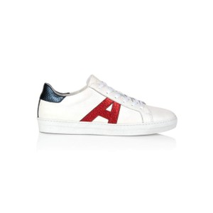 Signature Cru Trainers - White, Red & Blue