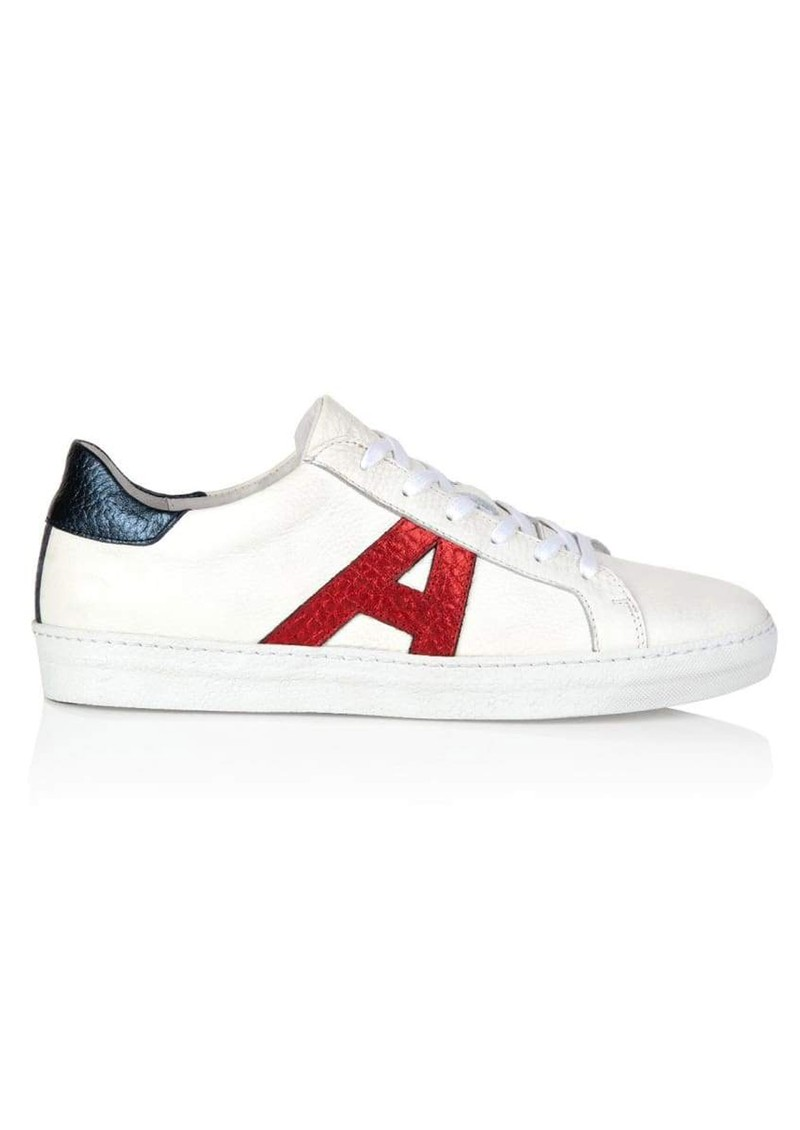 Signature Cru Trainers - White, Red & Blue main image