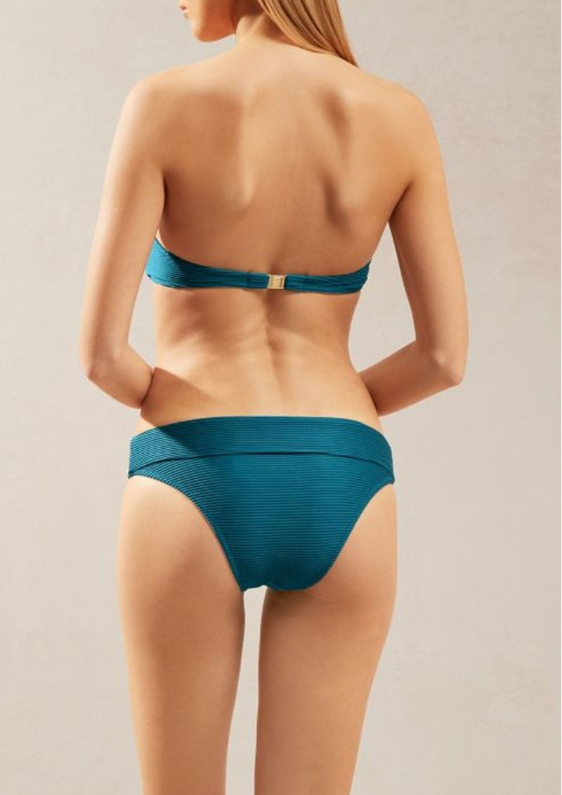 HEIDI KLEIN Ubud Fold Over Bottom - Teal  main image