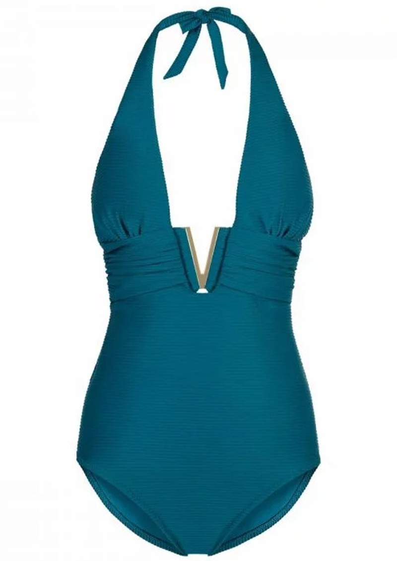 HEIDI KLEIN Ubud V Bar One Piece - Teal  main image