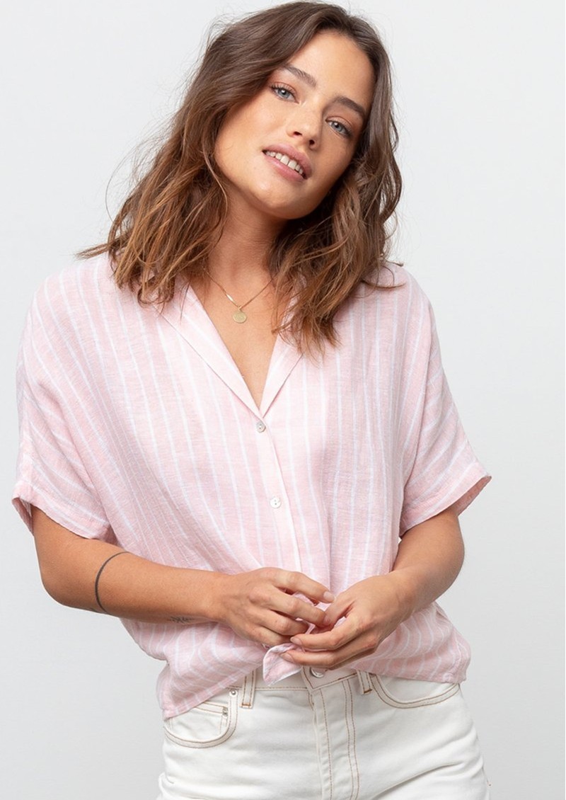 Rails Marley Top - Peach Stripe main image
