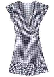Rails Leanne Wrap Dress - Navy Gingham & Spots