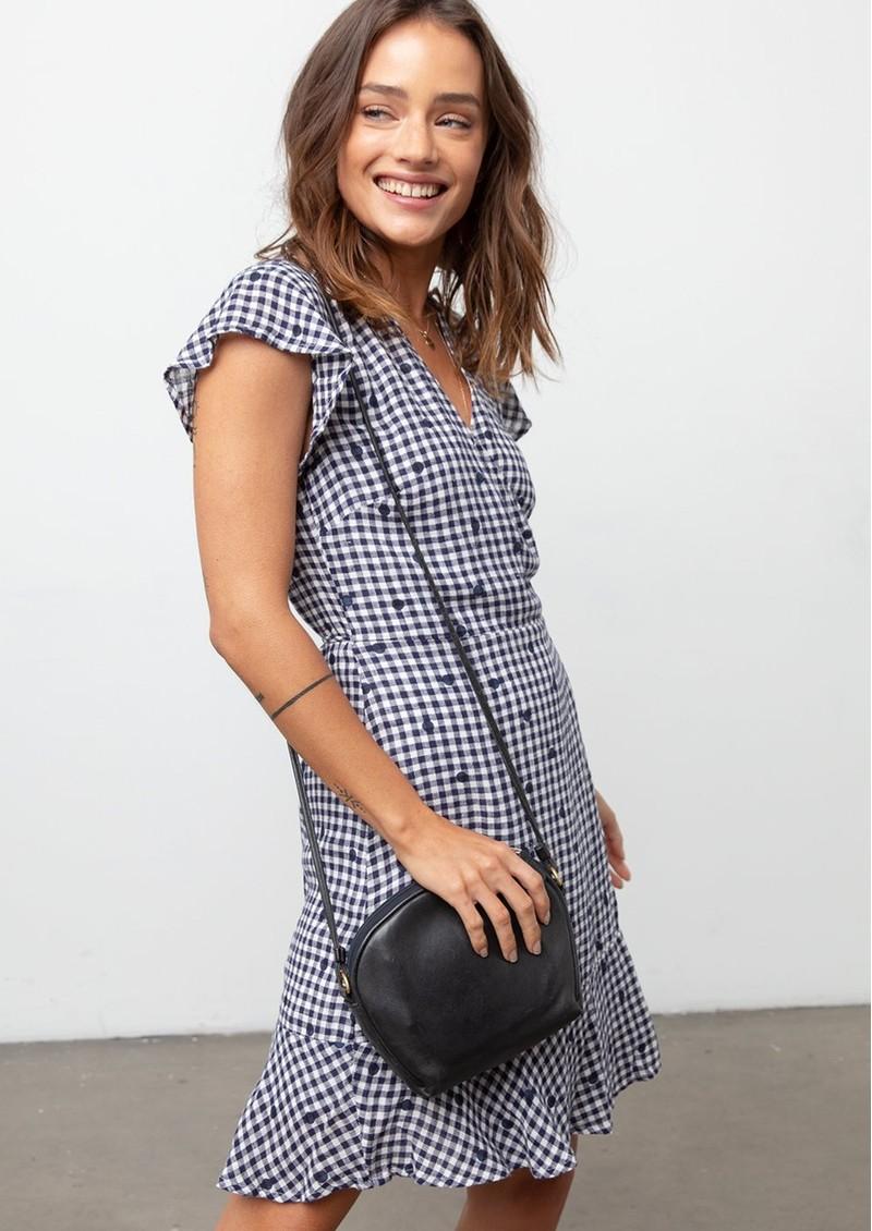 Rails Leanne Wrap Dress - Navy Gingham & Spots main image