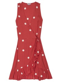 Rails Madison Wrap Dress - Scarlet Dots