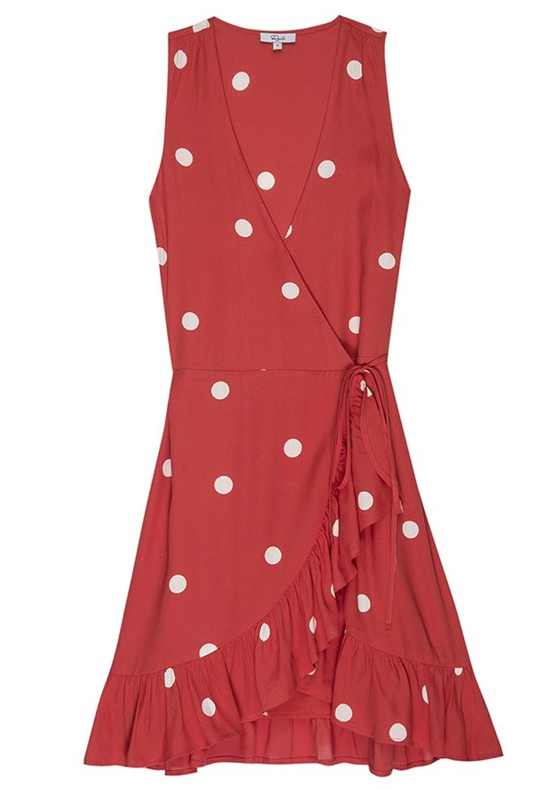 Madison Wrap Dress - Scarlet Dots main image