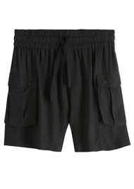 Maison Scotch Relaxed Cargo Shorts - Black