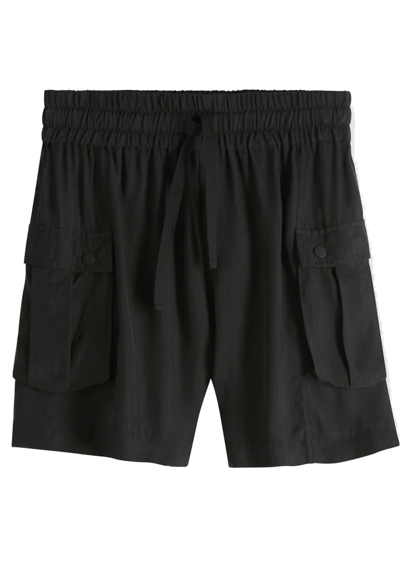 Relaxed Cargo Shorts - Black main image