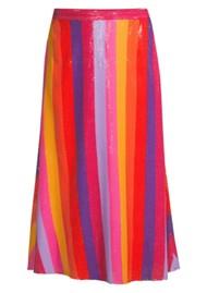 OLIVIA RUBIN Penelope Sequin Skirt - Rainbow
