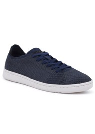 WODEN Jane North Sea Leather Trainers - Navy