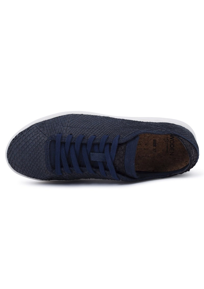 WODEN Jane North Sea Leather Trainers - Navy main image