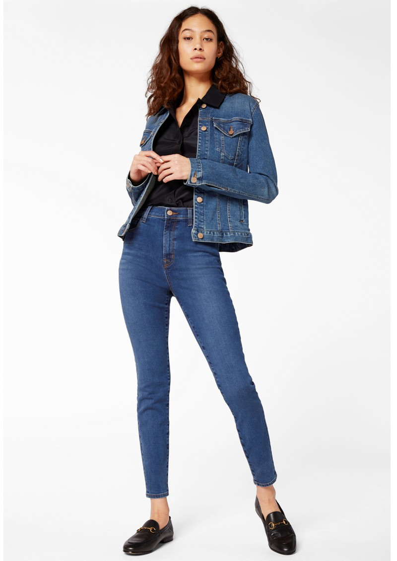 J Brand Leenah Super High Rise Ankle Skinny Jeans - Cyber main image