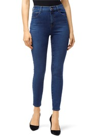 J Brand Leenah Super High Rise Ankle Skinny Jeans - Cyber