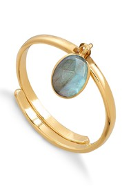 SVP RIO ADJUSTABLE RING - LABRADORITE & Gold