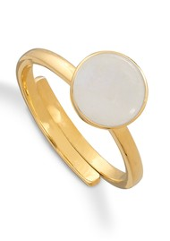 SVP Starman Adjustable Ring - Gold & Rainbow Moonstone