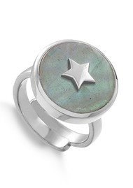 SVP Stelllar Star Adjustable Ring - Silver & Labradorite
