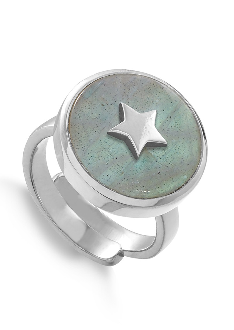 SVP Stelllar Star Adjustable Ring - Silver & Labradorite main image