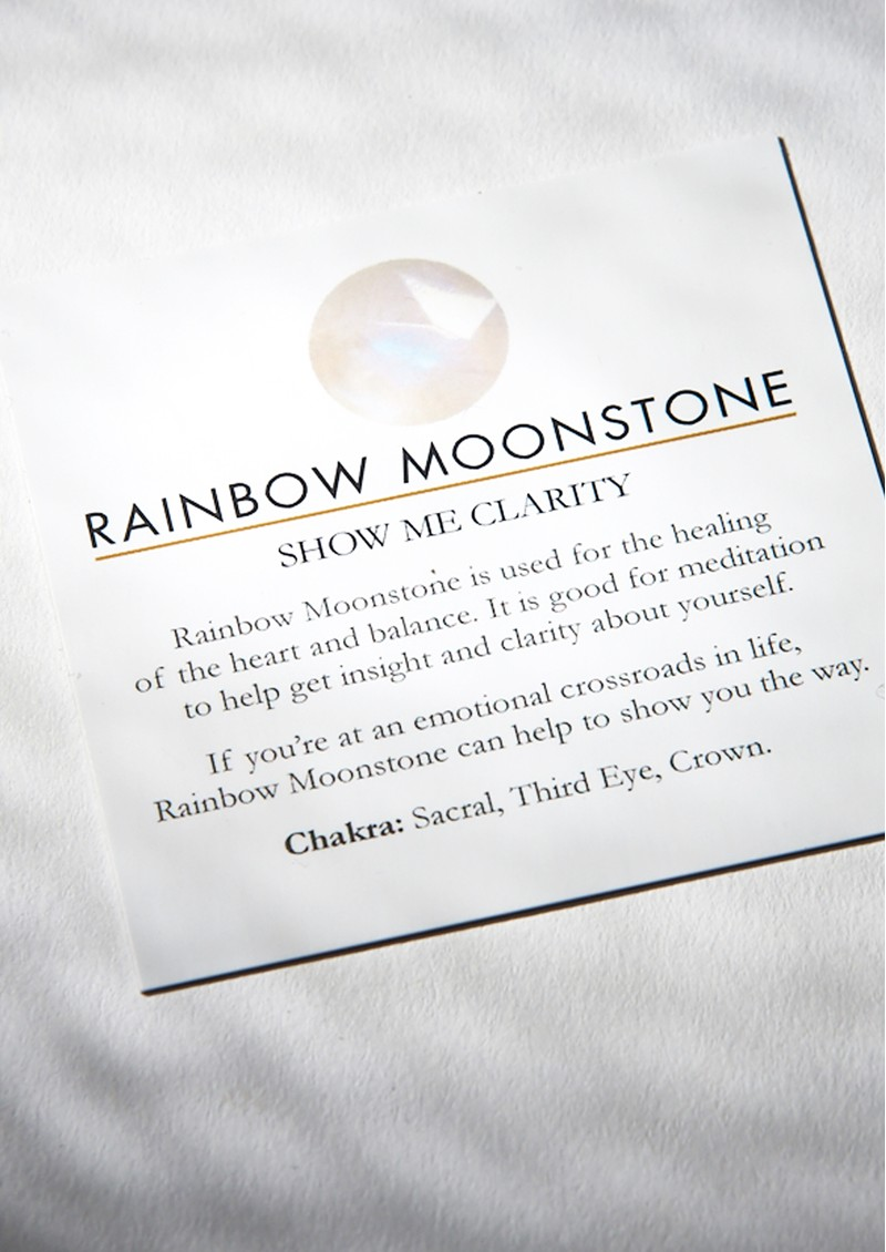SVP Atomic Micro Adjustable Ring - Gold & Rainbow Moonstone main image