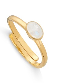 SVP Atomic Micro Adjustable Ring - Gold & Rainbow Moonstone
