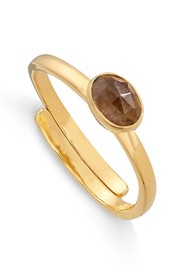SVP Atomic Micro Adjustable Ring - Gold & Smokey Quartz