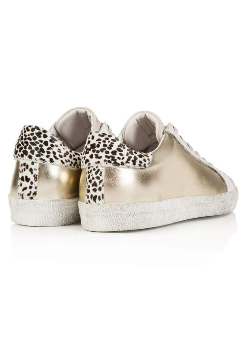 AIR & GRACE Cru Metallic Trainer - Gold & Dotty main image