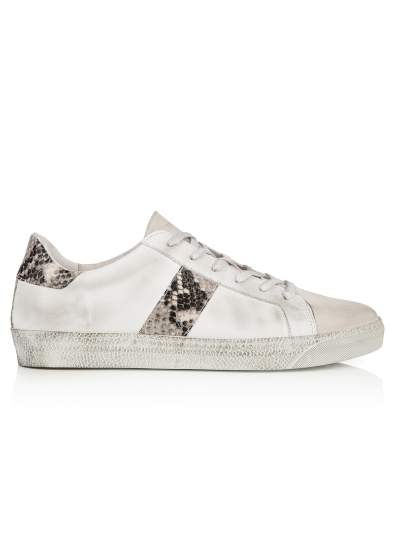 AIR & GRACE Cru Snake Trainers - White & Natural main image