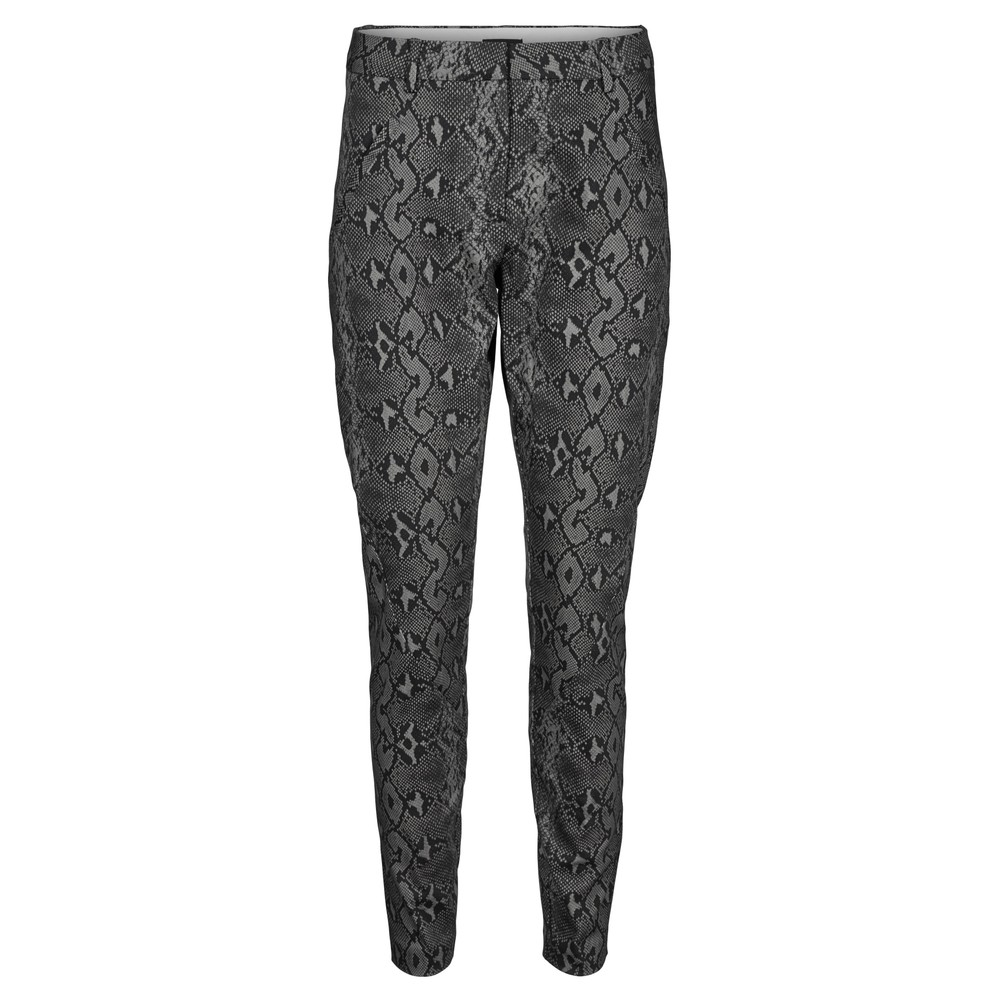 Angelie 606 Pants - Dark Grey Snake