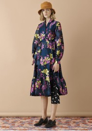 STINE GOYA Niki Wrap Dress - Daffodil Indigo