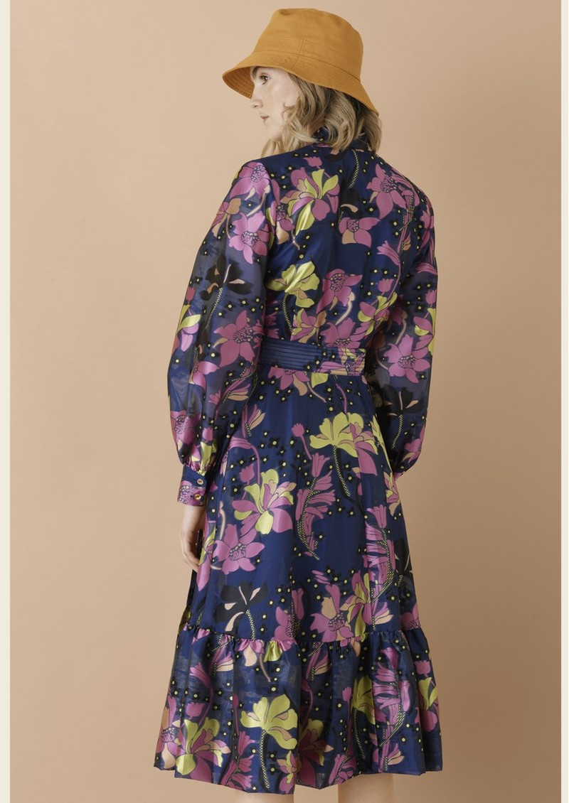 STINE GOYA Niki Wrap Dress - Daffodil Indigo main image