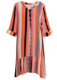 EITHER OR Carolay Printed Dress - Graphic Coral