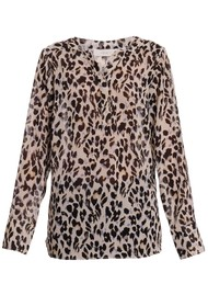 EITHER OR Pi Blouse - Leopard