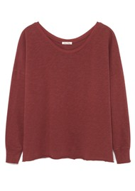 American Vintage Sonoma Long Sleeve Sweater - Dark Red