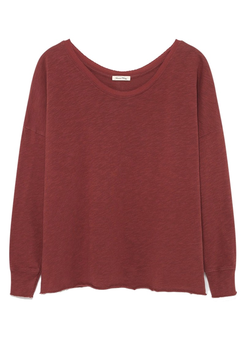 Sonoma Long Sleeve Sweater - Dark Red main image